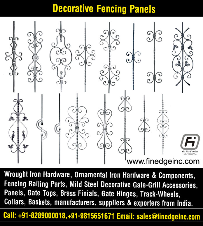 Decorative Wrought Iron And Ornamental Components Manufacturers Exporters In India